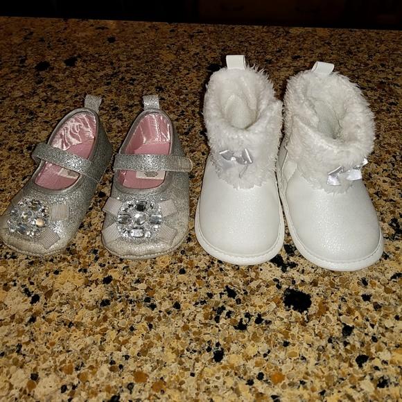eeda82aceb2 BUNDLED baby girl shoes   boots. SIZE 3-6 mo. M 5b60adfd8ad2f9c7bd0db2f0